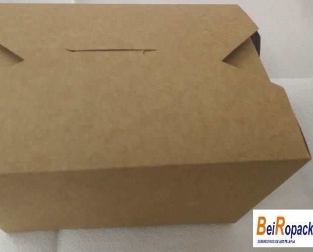 Cajita kraft 650ml. Paquetes de 25 unidades cajita en carton