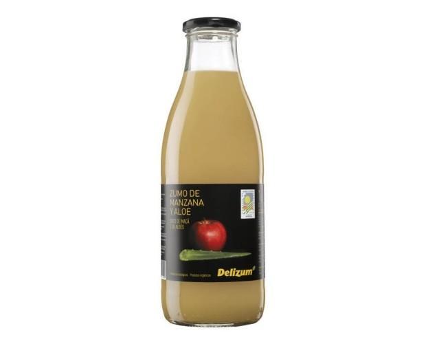 Zumo de manzana y aloe vera. Formato: 1 litro, 200 ml, 750 ml