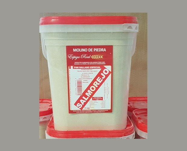 Pan Rallado salmorejo. Permite controlar la textura del salmorejo sin importar la madurez del tomate.