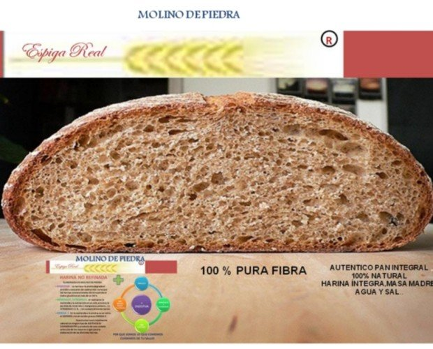 Pan integral. Auténtico pan integral. 100% natural
