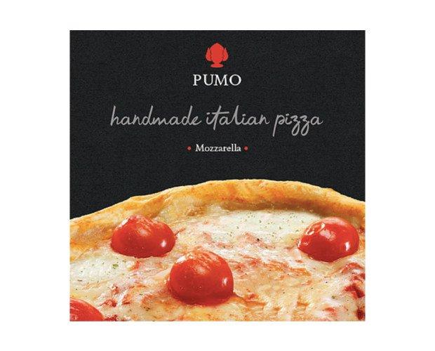 Pizza Mozzarella. Harina de trigo blando, mozzarella, puré de tomate, aceite de oliva virgen extra, orégano