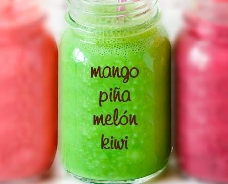 Smoothie Regenerador. Mango, piña, melón, kiwi