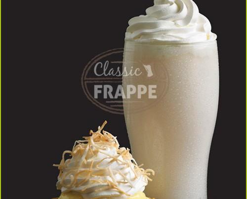 Frappé Coconut Cream. Bebida helada de deliciosa textura cremosa