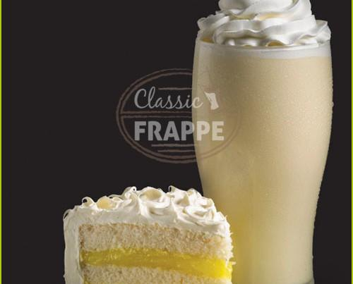 Frappé Lemon Velvet. Para amantes del aterciopelado pastel de limón
