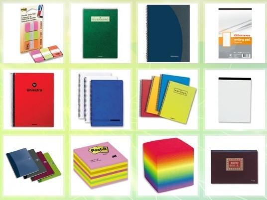Cuadernos y Blocs de Notas.Variedad de diseños, tamaños, modelos