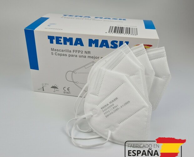 Mascarillas FFP2 españolas. Fabricación española con tecnología española y certificación CE