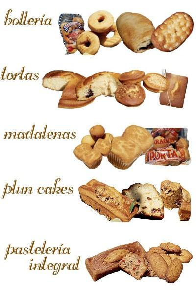 Bollería. Productos de bollería, pastelería y turrones guirlache
