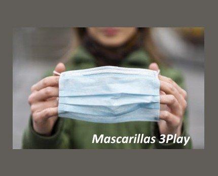Mascarillas Quirúrgicas. Elaboradas con 3 capas de protección
