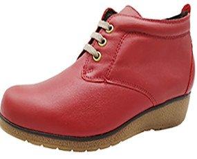 botines de mujer. botines de mujer de color rojo