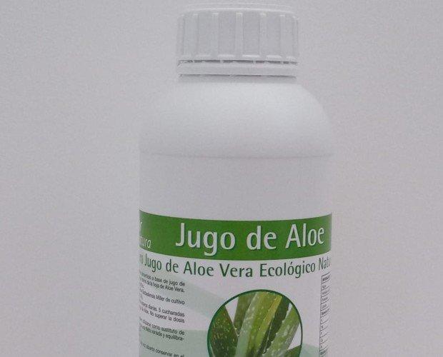 Jugo de aloe vera ecológico. Indicado para problemas del estómago, mala digestión, estreñimientos, etc.