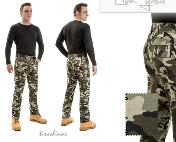 Pantalones estilo cazador. Tenemos pantalones estilo de camuflaje