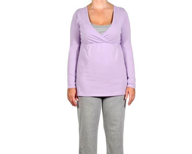 Pijamas Premamá.Cómodo pijama de embarazo y lactancia