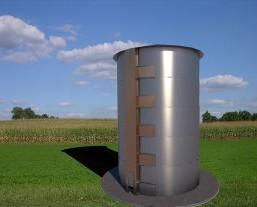 Silo de secado por infrarrojo lejano. Es un sistema de varias unidades de secado independientes basadas en el secadero rotatorio vertical de infrarrojo...