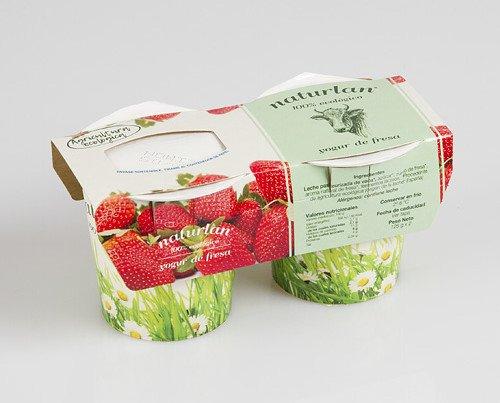 Yogur Ecológico.Con preparado de fresa 8% (fresas,azúcar y pectina) y fermentos lácteos