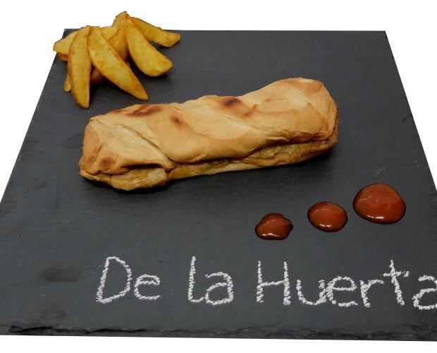 De la Huerta. Bocadillo con vegetales