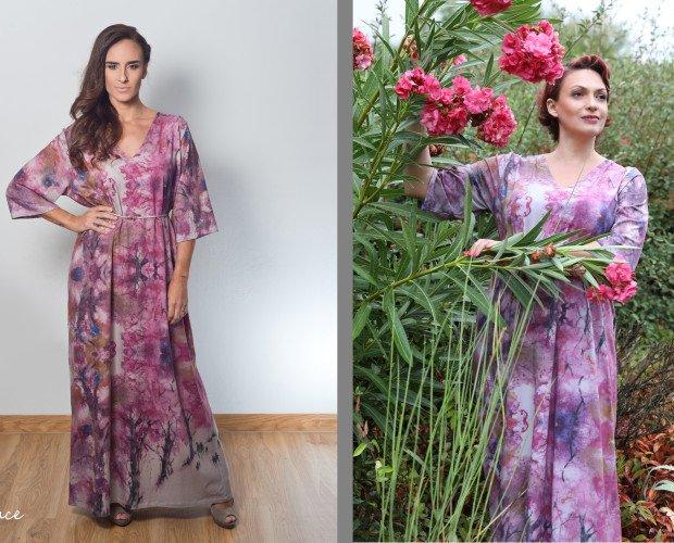 Vestido Rosas. Colores frescos y naturales