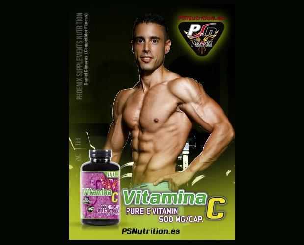PSN Vitamina C, 500 MG/CAP. Excelente rendimiento