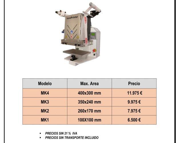 Estampación Textil.Maquinaria