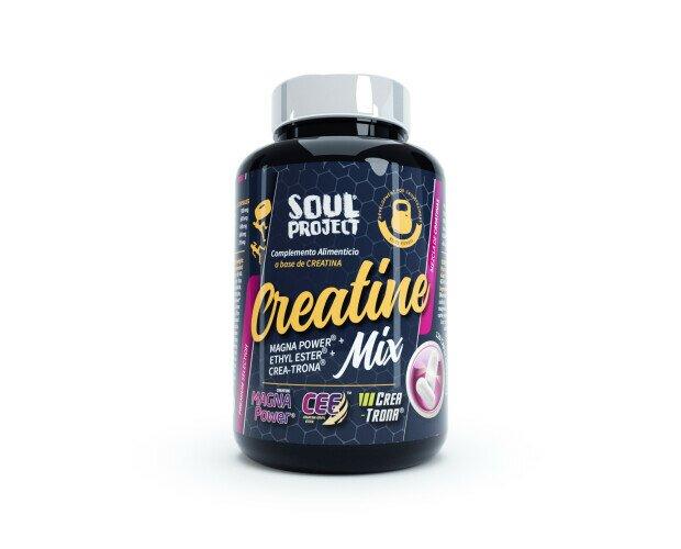 CREATINE MIX 120 CAP. Formulación destinada a mejorar fuerza y resistencia e incrementar masa muscular.