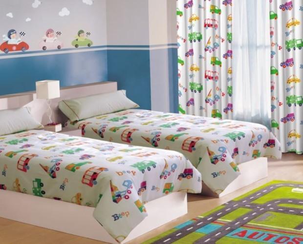Productos textiles. Colchas, cortinas