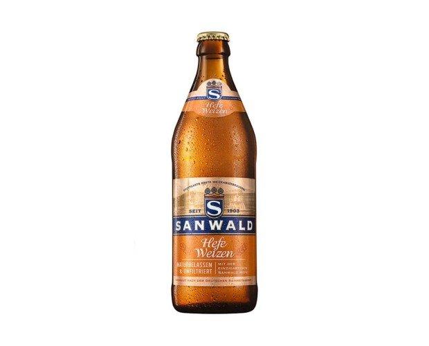 Sanwald Hefe Weizen. Típica cerveza de trigo