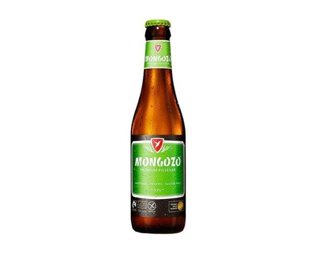 Mongozo Premium. Elaborada con malta de cebada, arroz y lúpulo organizo y ecológico