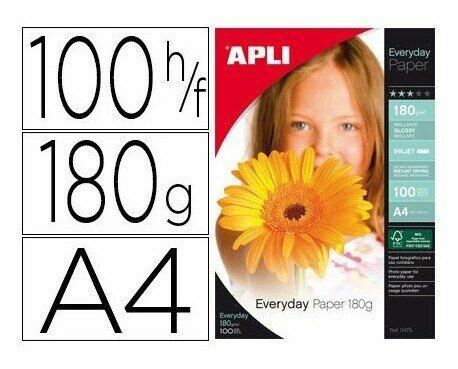 Papel fotográfico. Papel de foto APLI A4 180g.100 hojas