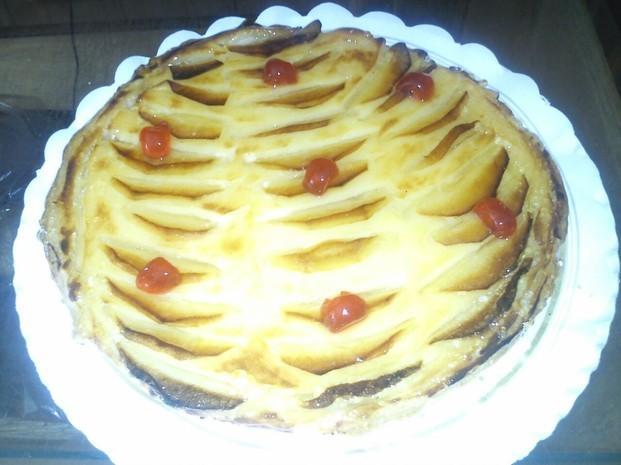 Tarta de manzana. Exquisita, artesanal