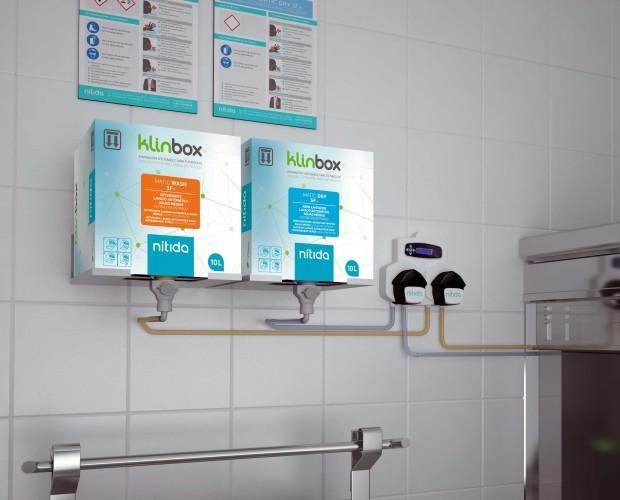 Klinbox. Higiene más rentable, sencilla y sostenible para el lavado automático de vajilla y limpiezas generales.