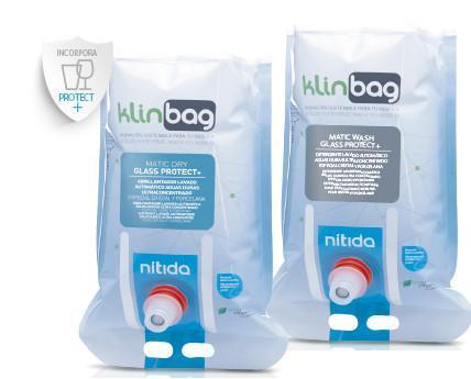 Klinbag. Productos ultra concentrados creado para el lavado automático de vajilla y cristalería