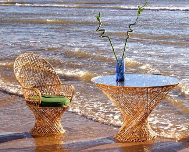 Muebles para exteriores. Fabricado con materiales altamente resistentes