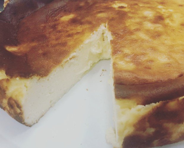 Tarta de queso. Tarta de queso casera