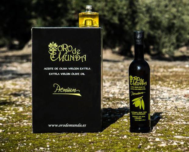 Aceite de Oliva.Oro de Munda es un aceite de oliva extra virgen