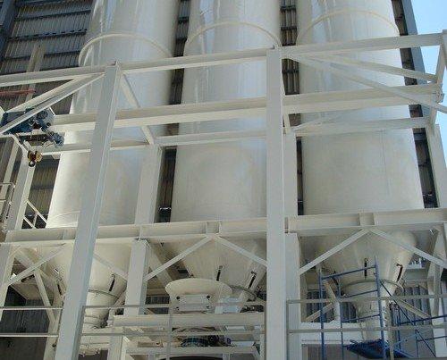 Silos Almacenamiento Taytesa. Todas nuestras estructuras metálicas son diseñadas y calculadas por nuestro departamento técnico
