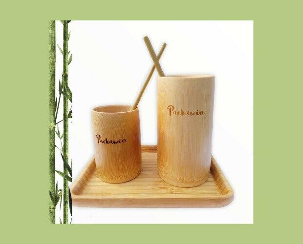 Vasos de Bambú y Pajitas. 100% natural, hecho a mano y producido sin ningún tipo de aditivo químico