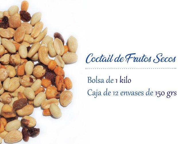 Cocktail frutos secos. Cocktail de frutos secos Almendras Anacardos Panchitos Avellanas Maiz Pasas sultanas