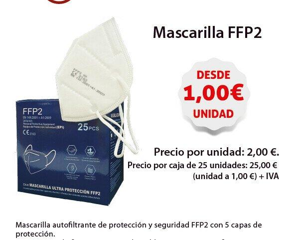 Mascarilla FFP2. Mascarilla con cinco capas de protección