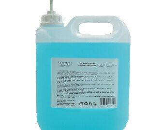 Gel hidroalcohólico. Gel hidroalcohólico en garráfas de 5 litros