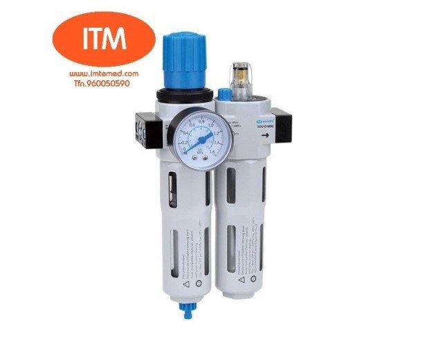 Componentes Neumáticos.Filtro sinterizado con el separador de agua; MINI/MIDI/MAXI: Regulador del pistón; Tipo regulador del diafragma; Lubricador directo de la constante-densidad