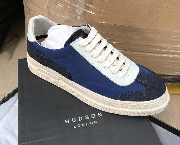 Zapatillas Hudson London. Zapatillas azules de hombre