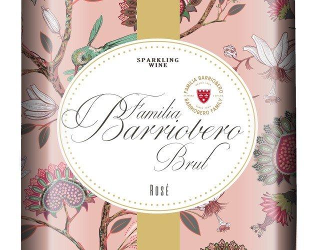 Brut Rosé Familia Barriobero. Exquisito vino rosado Rosé Familia Barriobero Brut.