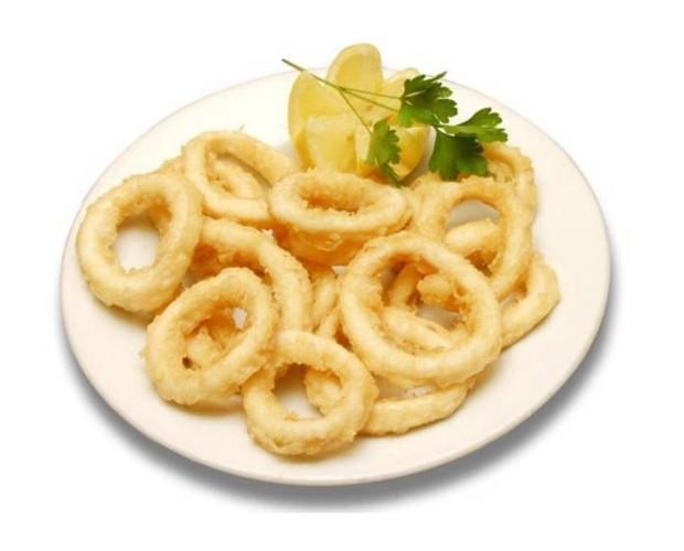 Aros de calamar. Todo tipo de aperitivos