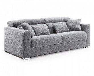 Sofá cama Borbón. Modelo tapizado en tejido en color gris