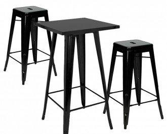 Conjunto 2 taburetes. Estilo industrial es perfecto para bares, restaurantes y cafeterías