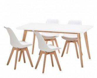 Conjunto 4 sillas más mesa. Un completo conjunto de calidad Premium
