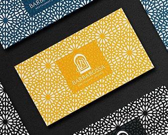 Tarjetas Barbarosa. Identidad visual para marcas de hostelería, restauración, alimentación y bebidas