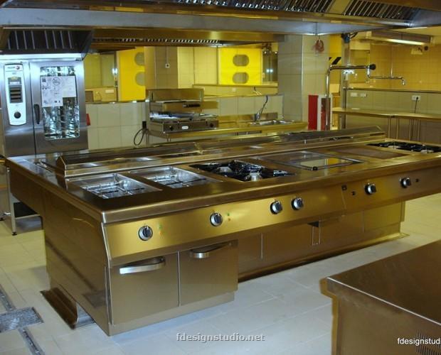 Cocina a medida. Cocinas para restaurante