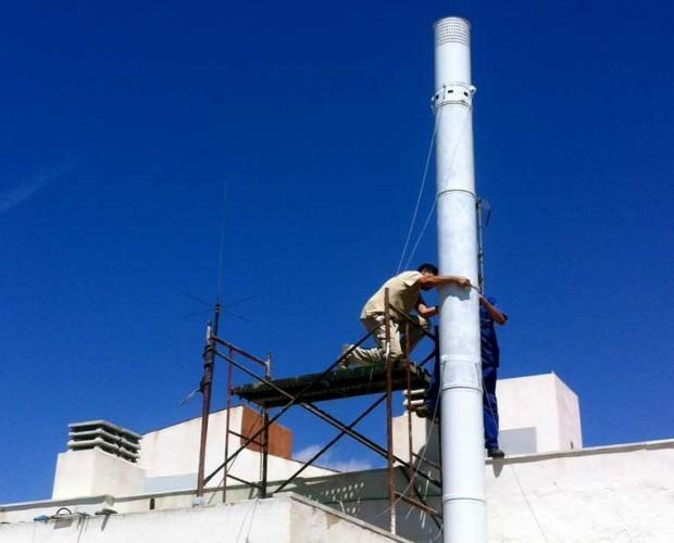 instalacion de chimeneas. instaladores de frío industrial