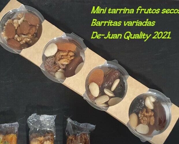 Mini Tarrina surtida.. Frutos secos en una porción propicia para reponer energía a lo largo de la mañana.