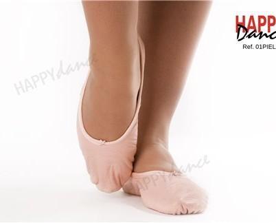 Zapatilla de ballet. Zapatilla 1/2 punta, piel suela entera